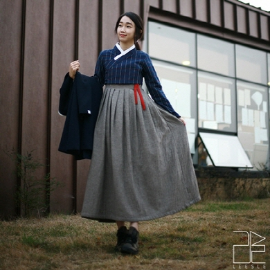 leesle-hanbok-cotton-dress-chestnut-gray
